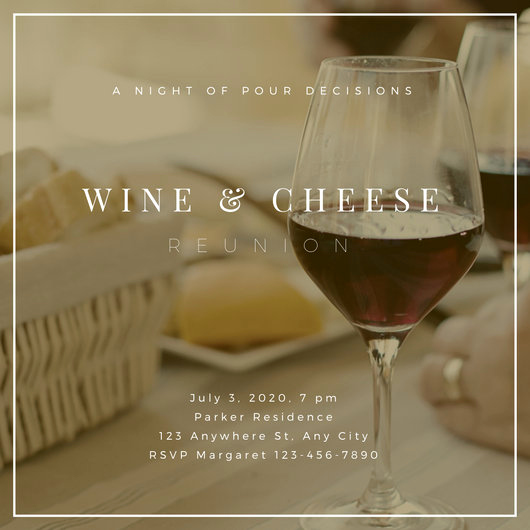 Wine Tasting Invitation Wording Unique Wine and Cheese Invite Flyer Templates by Canva
