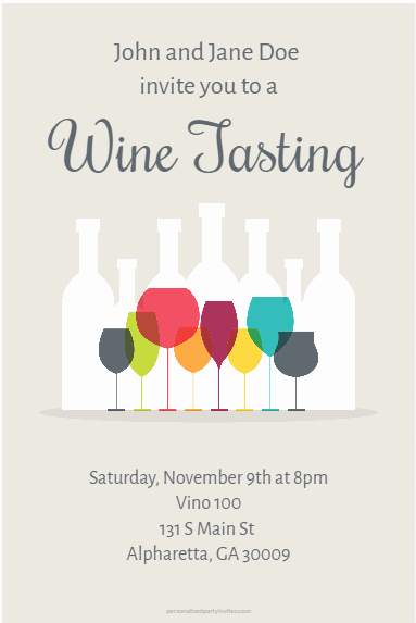 Wine Tasting Invitation Wording Unique Wine Tasting Party Invitation Personalized Party Invites