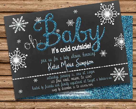 Winter Baby Shower Invitation Awesome Get the Magical Oh Baby Its Cold Outside Winter Baby
