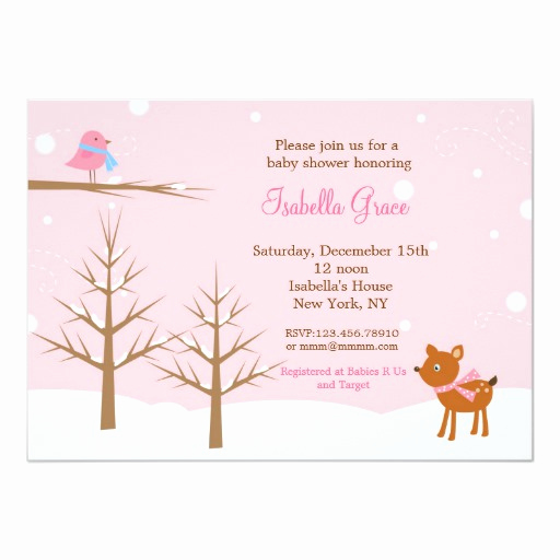 Winter Baby Shower Invitation Beautiful Winter Baby Shower Invitations