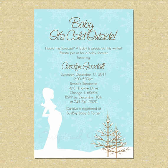 Winter Baby Shower Invitation Best Of Baby It S Cold Outside Winter Wonderland by