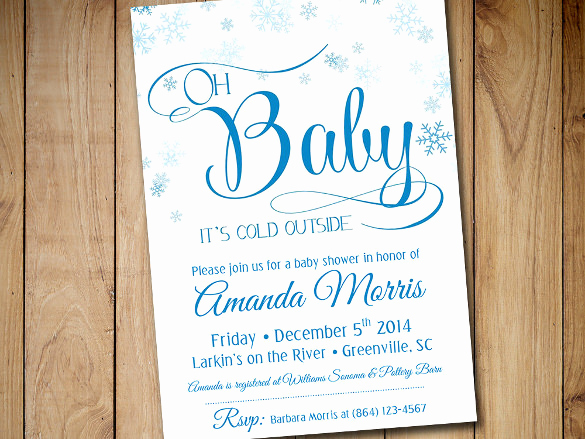 Winter Baby Shower Invitation Elegant Baby Shower Invitation Template 29 Free Psd Vector Eps