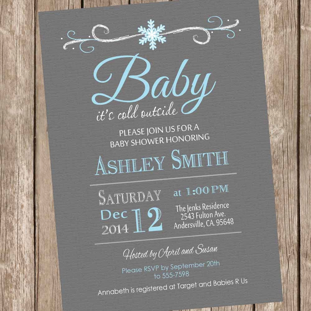 Winter Baby Shower Invitation Fresh Baby It S Cold Outside Baby Shower Invitation by