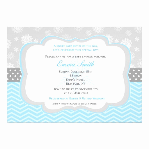 Winter Baby Shower Invitation Fresh Snowflake Winter Baby Shower Invitations