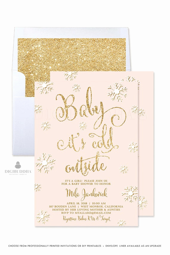 Winter Baby Shower Invitation Inspirational Baby It S Cold Outside Invitation Winter Baby Shower