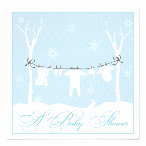 Winter Baby Shower Invitation Lovely Winter Clothesline Baby Shower Invitation