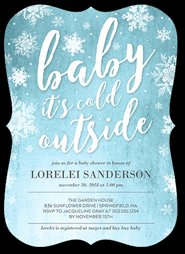 Winter Baby Shower Invitation Luxury Winter Wonderland Baby Shower Invitations