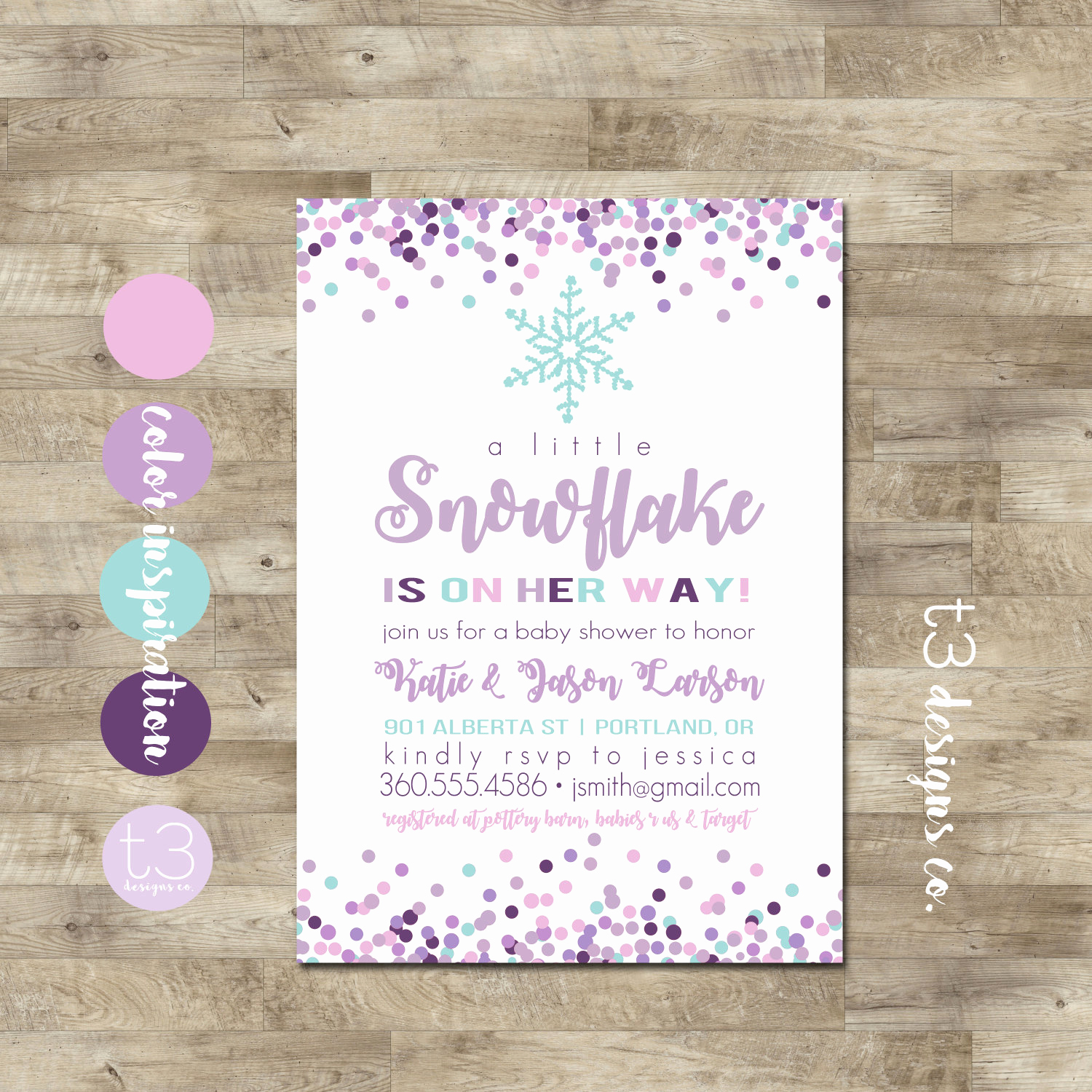 Winter Baby Shower Invitation New Girl Snowflake Baby Shower Invitation Winter Baby Shower