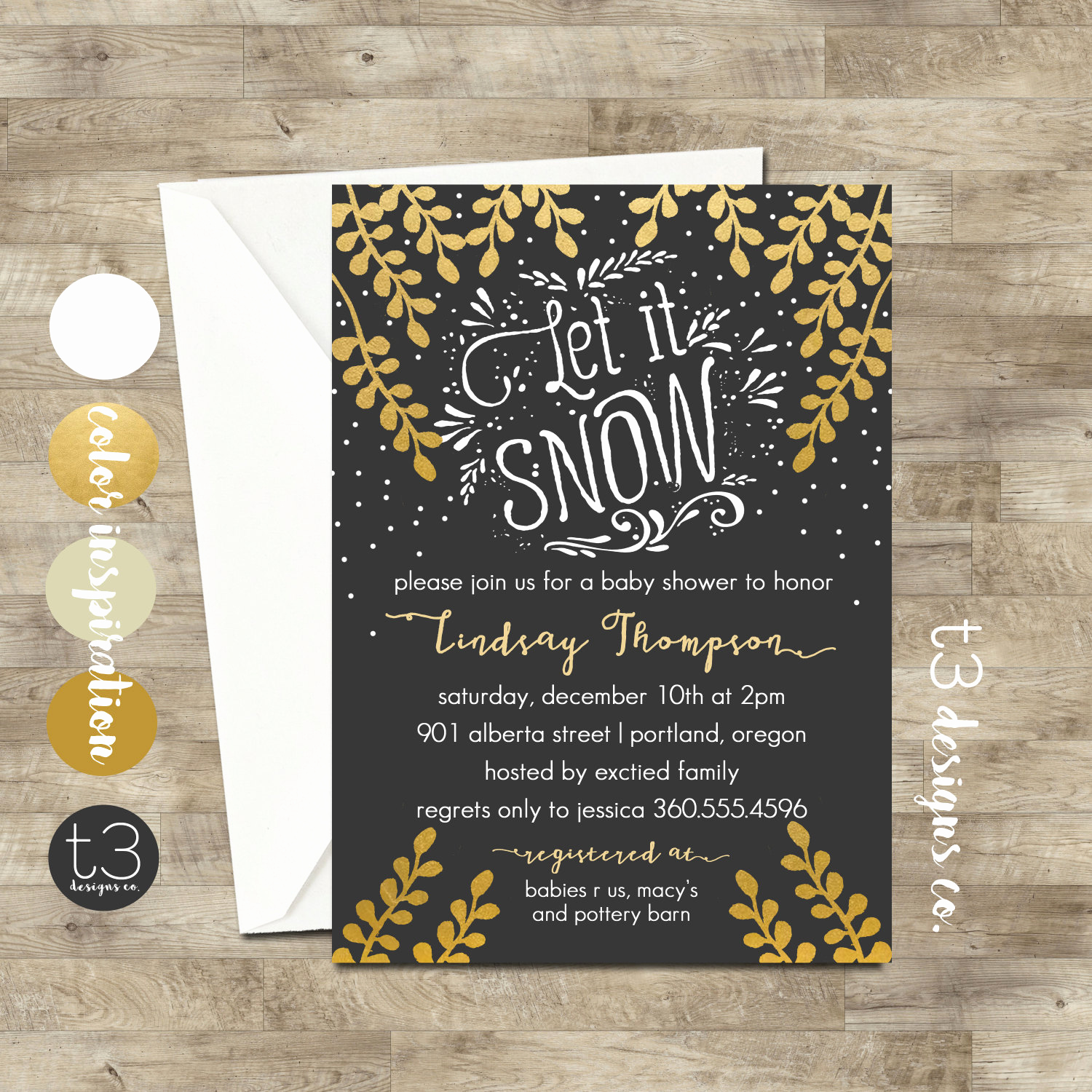 Winter Baby Shower Invitation New Girl Winter Wonderland Invitation Winter Baby Shower