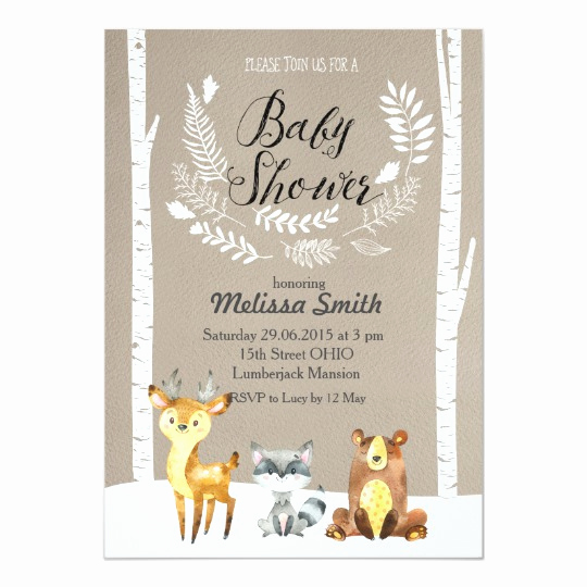 Winter Baby Shower Invitation Unique Winter Woodland Baby Shower Invitation