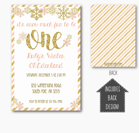 Winter One Derland Invitation Awesome Winter Ederland Invitation Winter Wonderland Invitations