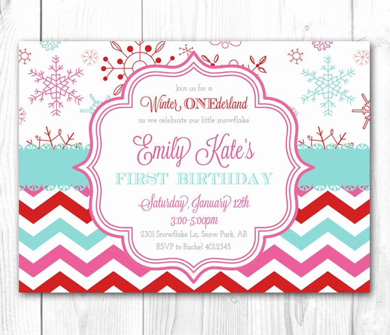 Winter One Derland Invitation Elegant Items Similar to Modern Winter Wonderland Party Invitation