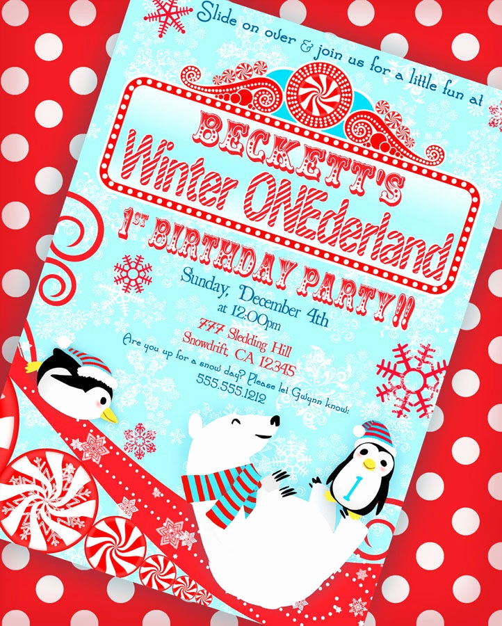 Winter One Derland Invitation Elegant Winter Onederland Invitation Winter Wonderland Invitation