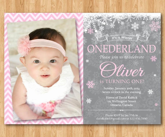 Winter One Derland Invitation Fresh Winter Ederland Invitation Boy or Girl Birthday Party
