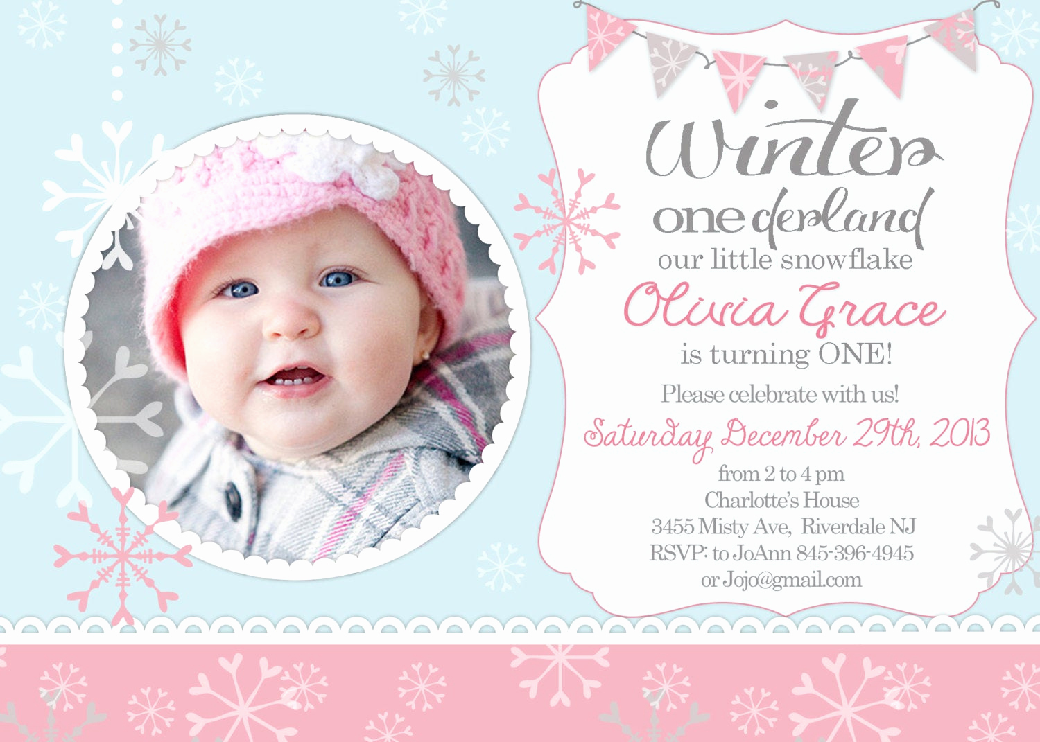 Winter One Derland Invitation Inspirational Winter Ederland Winter First Birthday Invitation