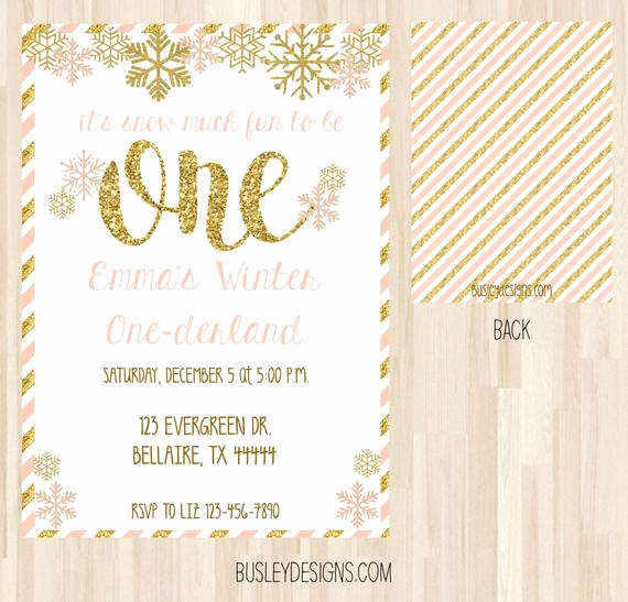 Winter One Derland Invitation Lovely Winter Ederland Invitation Winter Wonderland by