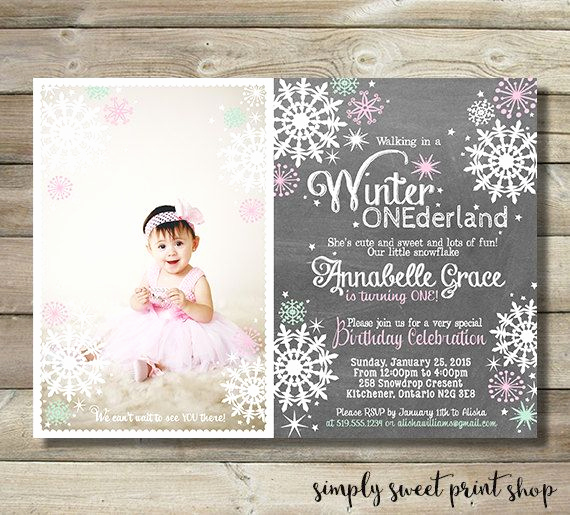 Winter One Derland Invitation Luxury 1000 Ideas About Winter Ederland Invitations On
