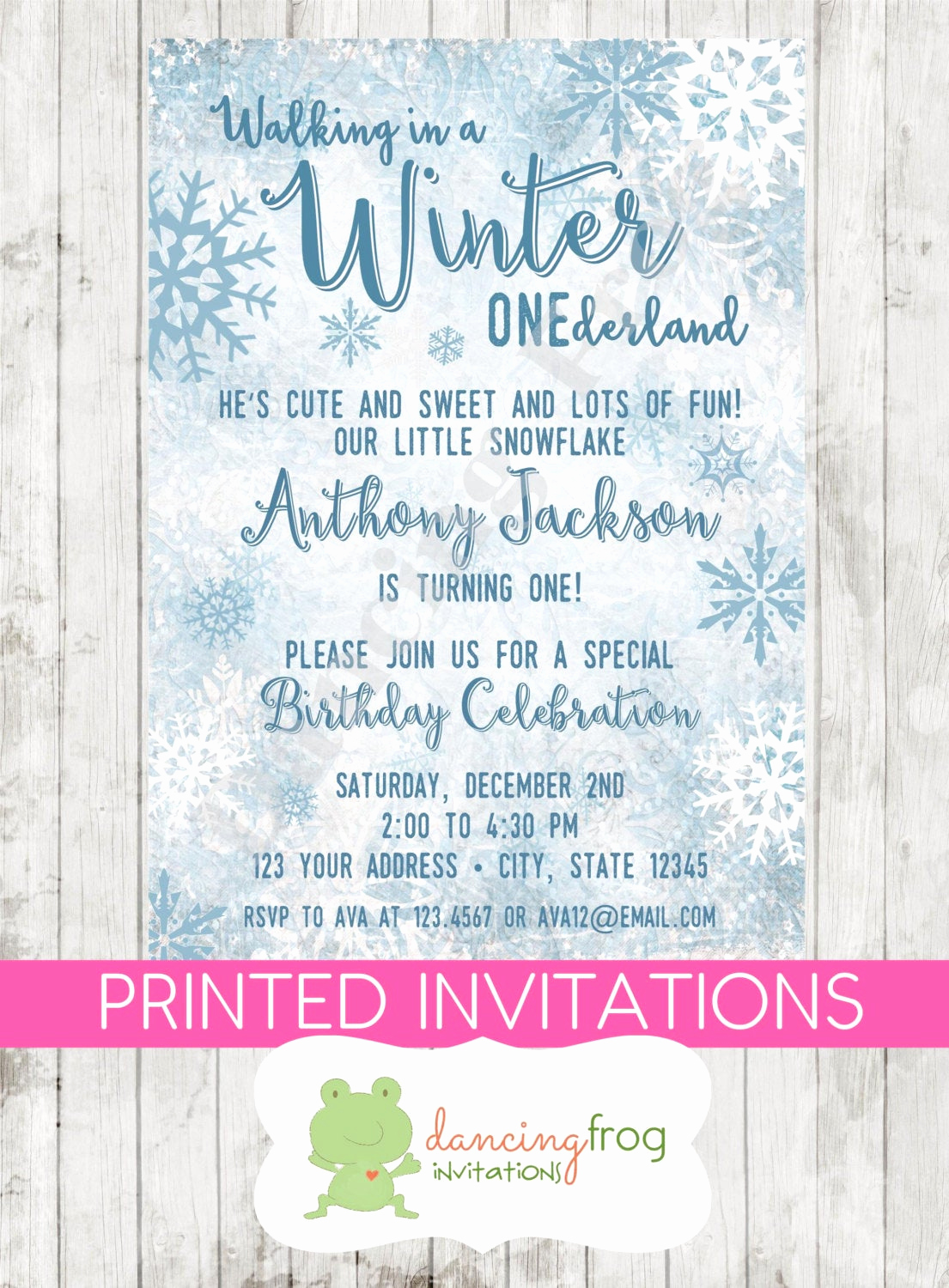 Winter One Derland Invitation Luxury Winter Onederland Birthday Invitation Printed Winter