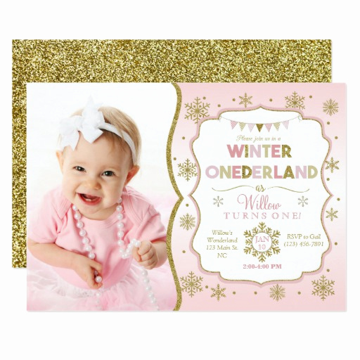 Winter One Derland Invitation Wording Awesome Winter Ederland Snowflake Birthday Invitation