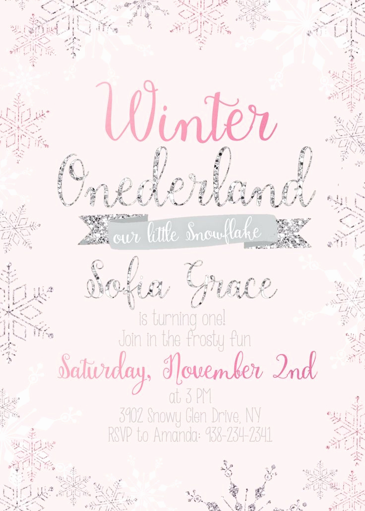 Winter One Derland Invitation Wording Beautiful 25 Best Ideas About Winter Ederland Invitations On