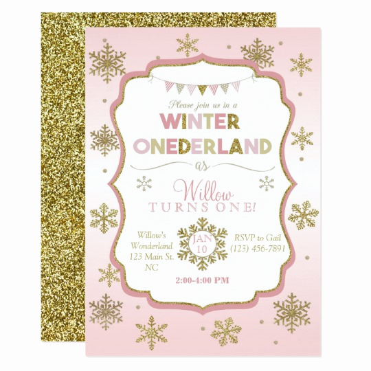 Winter One Derland Invitation Wording Beautiful Snowflake Winter Ederland Birthday Invitation