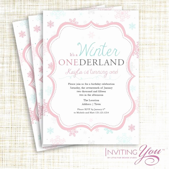 Winter One Derland Invitation Wording Beautiful Winter Ederland Invitation Printable Digital File or Deposit