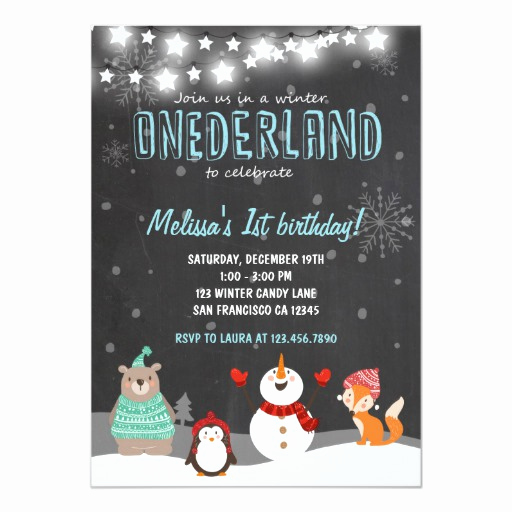 Winter One Derland Invitation Wording Beautiful Winter Onederland Birthday Party Invitation Aqua