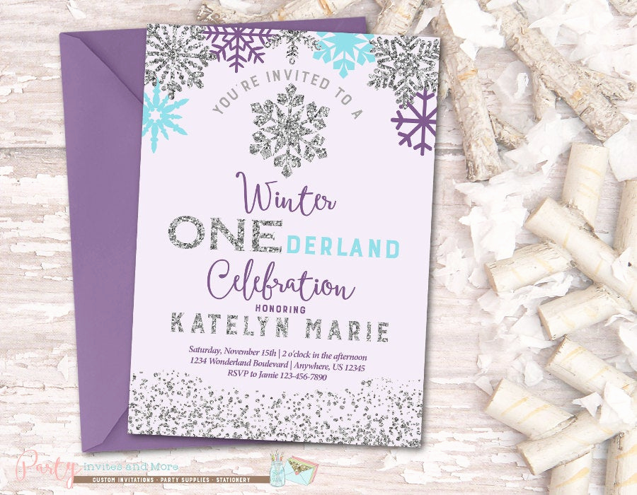 Winter One Derland Invitation Wording New Winter Birthday Invitation Onederland by Partyinvitesandmore