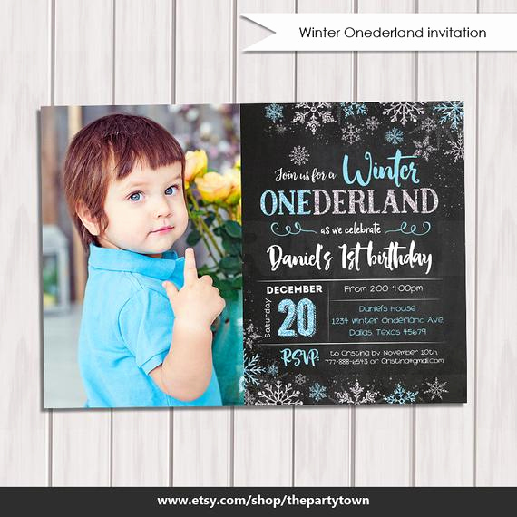 Winter One Derland Invitation Wording New Winter Onederland Invitation Chalkboard Boy Winter