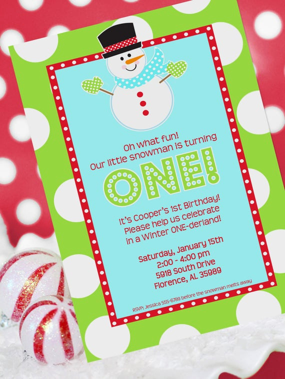 Winter One Derland Invitation Wording New Winter Onederland Party Invitation