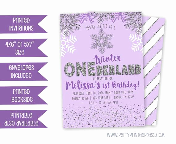 Winter One Derland Invitation Wording Unique Purple Winter Onederland Invitation Winter Wonderland