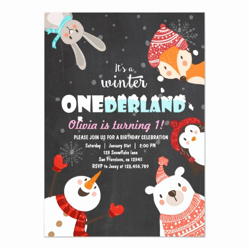 Winter One Derland Invitation Wording Unique Winter Onederland Birthday Woodland Invitation