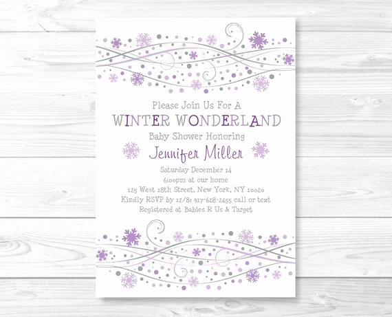 Winter Wonderland Baby Shower Invitation Awesome Snowflake Winter Wonderland Baby Shower by Littleprintsparties