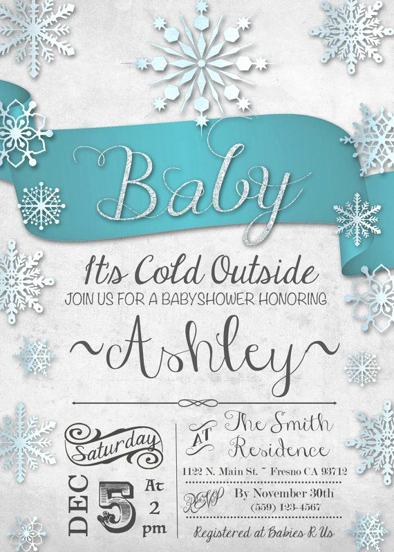 Winter Wonderland Baby Shower Invitation Best Of 25 Best Ideas About Snowflake Baby Shower On Pinterest