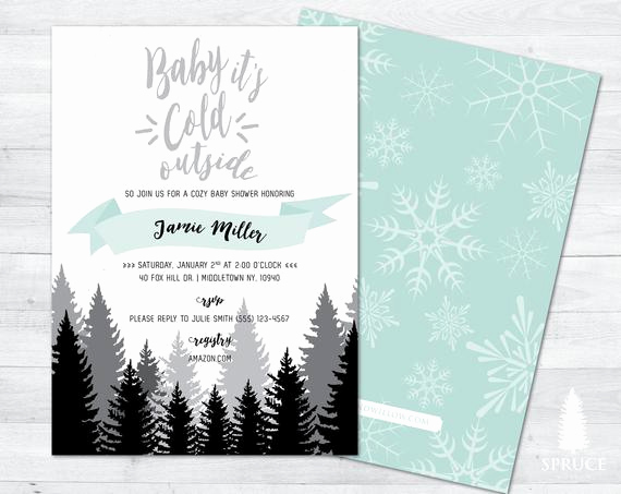 Winter Wonderland Baby Shower Invitation Best Of Baby Its Cold Outside Baby Shower Invitation Winter Baby