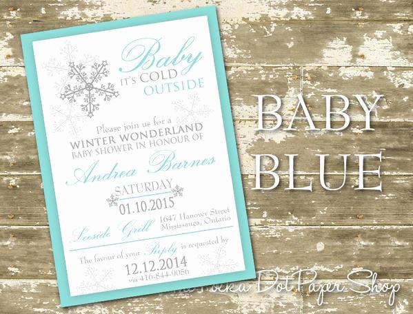 Winter Wonderland Baby Shower Invitation Elegant Winter Wonderland Baby Shower Invitation 0433 – the Polka