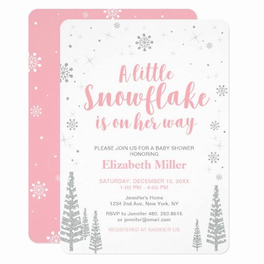 Winter Wonderland Baby Shower Invitation Fresh Pink Winter Wonderland Girl Baby Shower 4 5x6 25