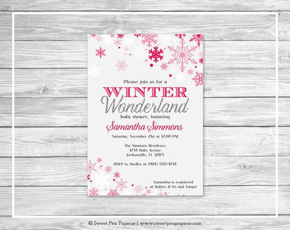 Winter Wonderland Baby Shower Invitation Inspirational Winter Wonderland Baby Shower Invitation Printable Baby