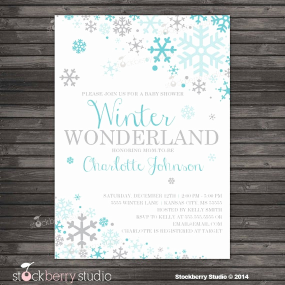 Winter Wonderland Baby Shower Invitation Lovely Items Similar to Winter Wonderland Baby Shower Invitation