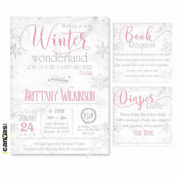 Winter Wonderland Baby Shower Invitation Lovely Winter Wonderland Invitation Winter Baby Shower Invite