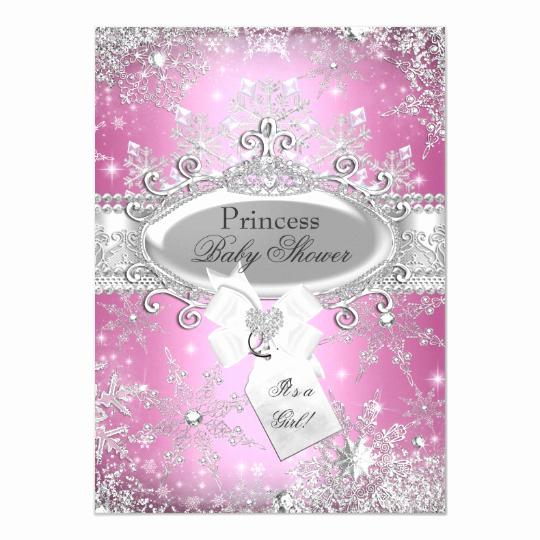 Winter Wonderland Baby Shower Invitation New Pink Princess Winter Wonderland Baby Shower Invite
