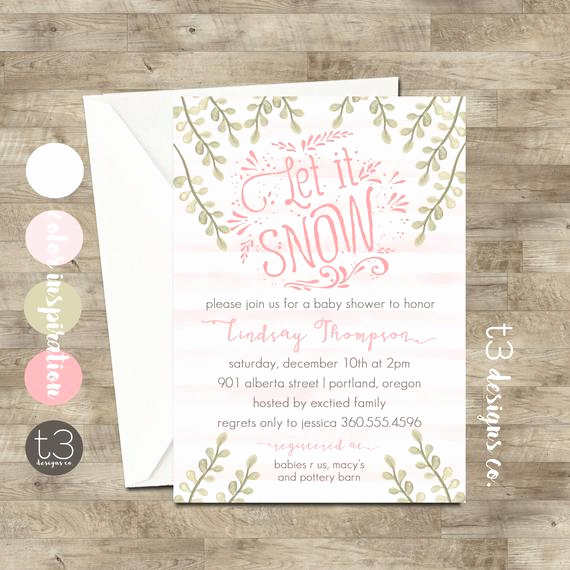 Winter Wonderland Baby Shower Invitation Unique Girl Winter Wonderland Invitation Winter Baby Shower