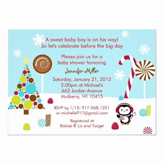 Winter Wonderland Baby Shower Invitation Unique Winter Wonderland Penguin Baby Shower Invitations