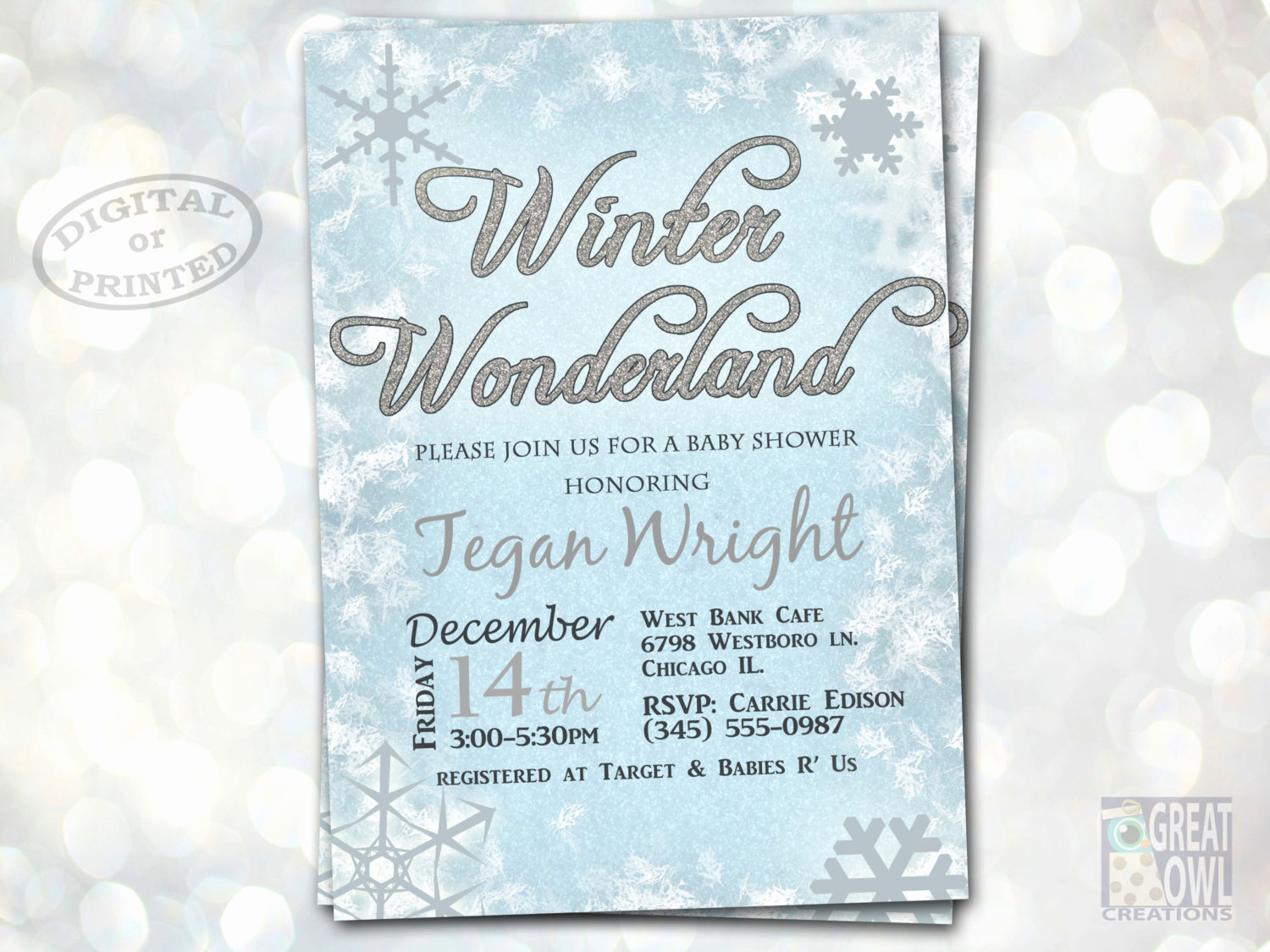 Winter Wonderland Invitation Ideas Awesome Winter Wonderland Baby Shower Invitations Winter Baby Shower