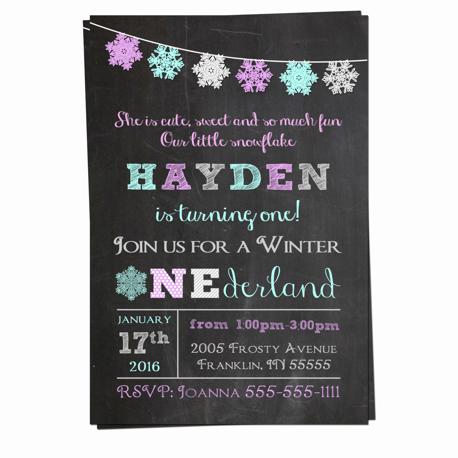 Winter Wonderland Invitation Ideas Beautiful Winter Onederland Invitation Winter Wonderland Invitation