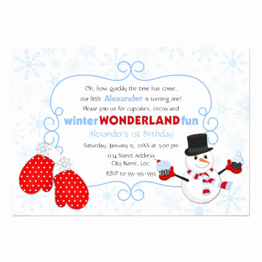 "Winter Wonderland Invitation Ideas Beautiful Winter Wonderland Birthday Invitation 5"" X 7"" Invitation"