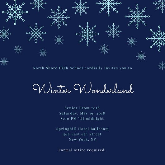 Winter Wonderland Invitation Ideas Elegant Winter Wonderland Invitation