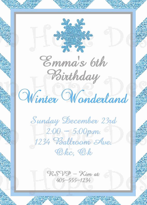 Winter Wonderland Invitation Ideas Elegant Winter Wonderland Invitation Winter Wonderland Birthday