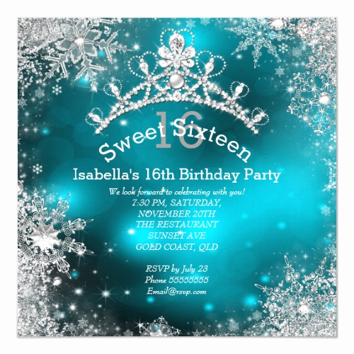 Winter Wonderland Invitation Ideas Lovely Popular 25 Winter Wonderland Sweet Sixteen Invitations