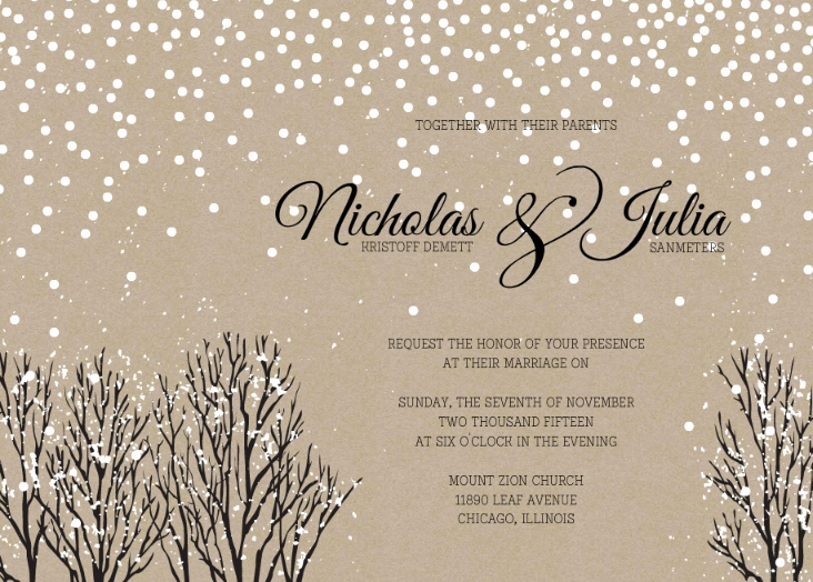 Winter Wonderland Invitation Ideas Luxury Winter Wedding Invitation Wording Winter Wonderland